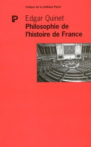 9782228904186: Philosophie de l'histoire de France