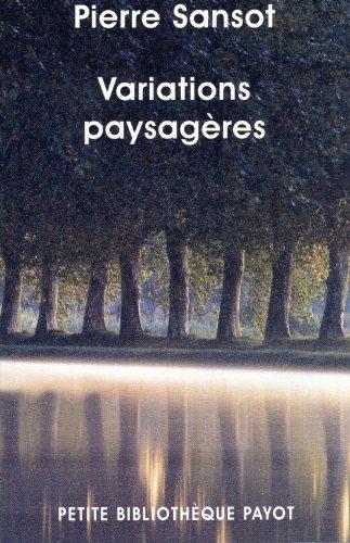 9782228904193: Variations paysag�res : Invitation au paysage