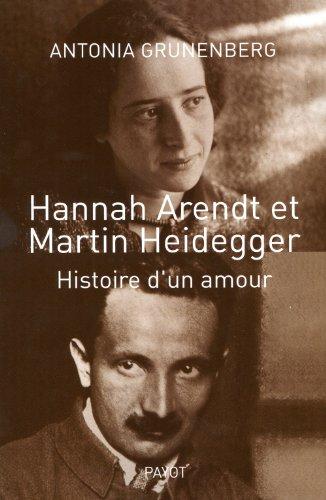 9782228904674: Hannah arendt et martin heidegger histoire d'un amour
