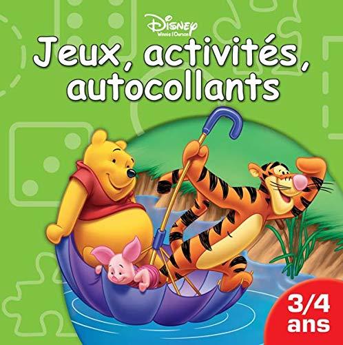 9782230019502: Jeux, activités, autocollants Winnie l'Ourson : 3/4 ans