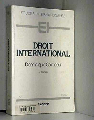 9782233003195: DROIT INTERNATIONAL. 5ème édition