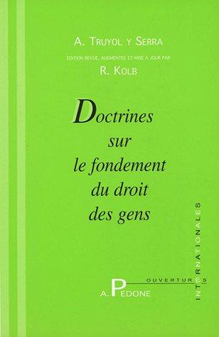 9782233005014: Doctrines sur le fondement du droit des gens