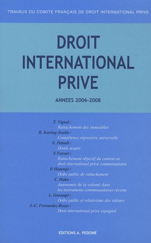 Droit international prive 2006 2207 2007 2008: Collectif