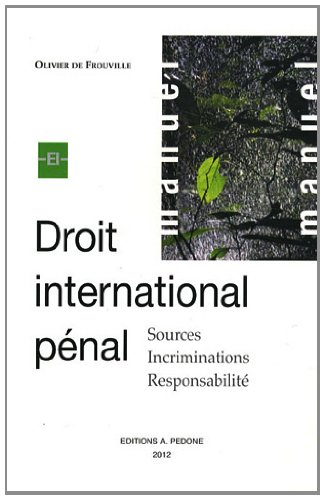 9782233006400: Droit international pénal : Sources, incriminations, responsabilité