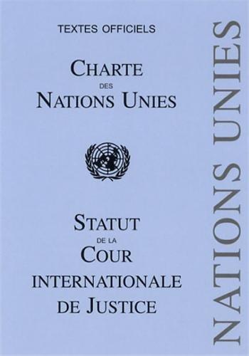9782233006769: Charte des Nations Unies : Statut de la Cour internationale de Justice