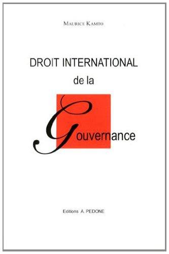9782233006882: Droit international de la gouvernance