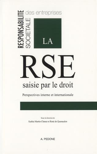 9782233007933: La RSE saisie par le droit : Perspectives interne et internationale