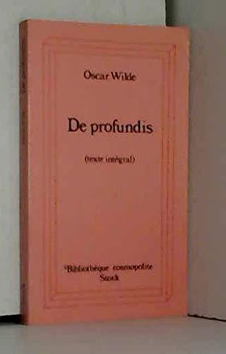 9782234016002: De profundis : texte intégral 101097 (Stk Bb Cosmopol)