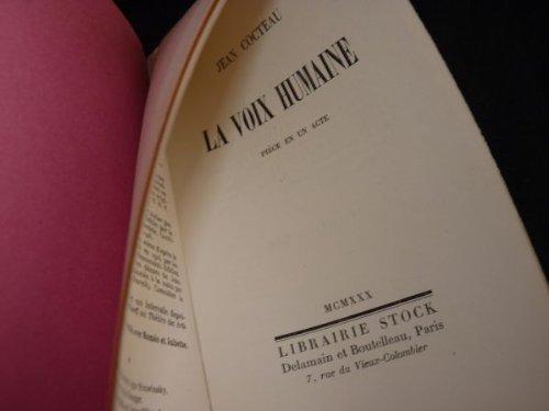 9782234016781: La Voix humaine : Pièce en un acte (Bibliothèque Stock)