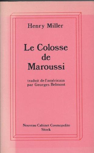 9782234043329: Le Colosse de Maroussi