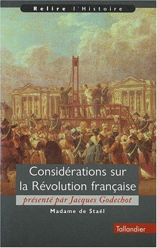 9782235022750: Considération de la révolte française