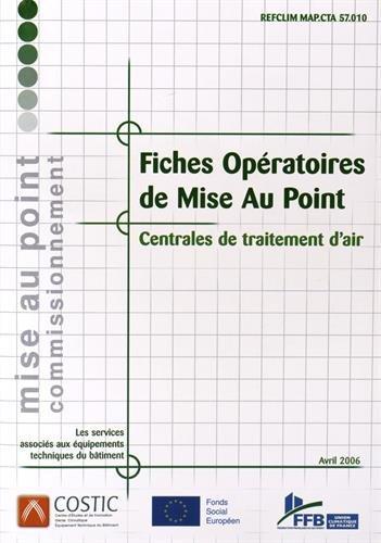 9782236001693: Fiches opératoires de mise au point : Centrales de traitement d'air (1Cédérom)