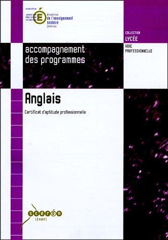 9782240013309: Anglais : Certificat d'aptitude professionnelle
