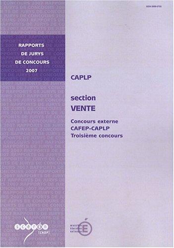 9782240027276: CAPLP externe et 3e concours Vente