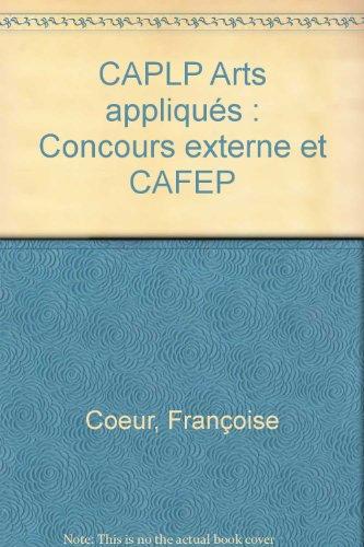 9782240027917: CAPLP Arts appliqués : Concours externe et CAFEP