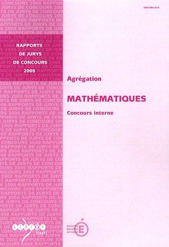 9782240028419: Agrégation Mathématiques : Concours interne