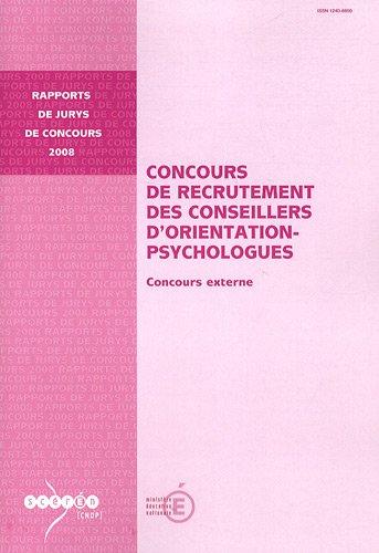 9782240028747: Concours de recrutement des conseillers d'orientation-psychologues : Concours externe