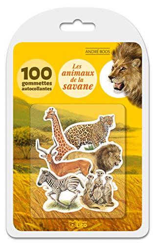 9782244062136: Ma boîte à gommettes documentaire: Les animaux de la savane - De 3 à 5 ans