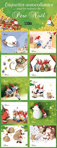 9782244073033: Etiquettes autocollante pour les cadeaux pere Noël : vertes