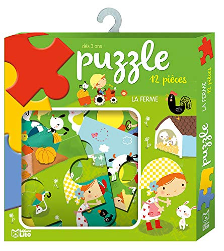 9782244504247: Ma boite à jeux: Puzzle la ferme - Dès 3 ans