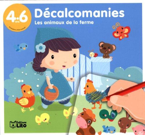 9782244704012: Decalcomanies animaux ferme (Mes premières décalcomanies)