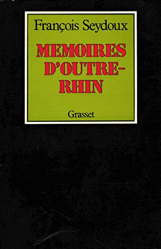 9782246001737: Memoires d'Outre-Rhin (French Edition)