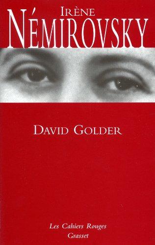 9782246151456: David Golder (Les cahiers rouges)