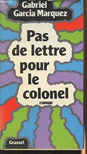 9782246252313: Pas de lettre pour le colonel