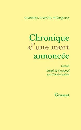 9782246267416: Chronique d'une mort annoncée (French Edition)