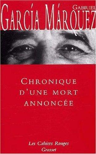 9782246267447: Chronique d'une mort annoncée (French Edition)