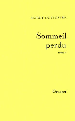 9782246351214: Sommeil perdu: Roman (French Edition)