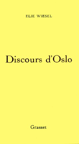 9782246396116: Discours d'Oslo