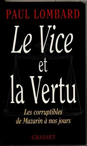 9782246523314: Le vice et la vertu