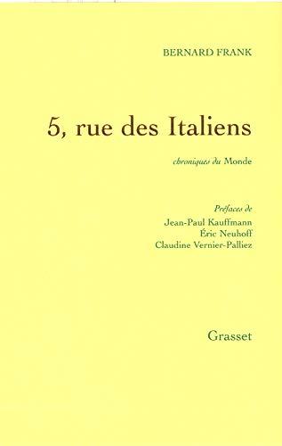 9782246715115: 5, rue des Italiens : Chroniques du Monde