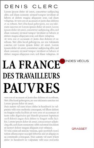 9782246740018: La France des travailleurs pauvres