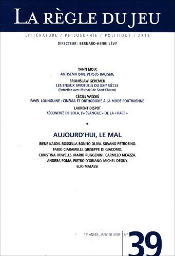 9782246741237: La Règle du Jeu N 39 (French Edition)