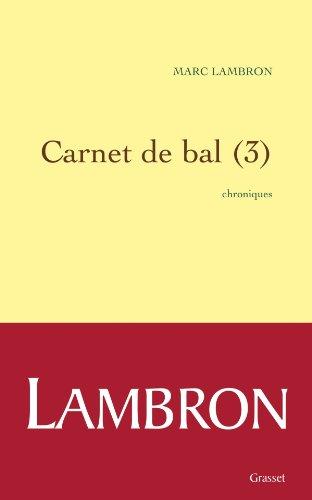 9782246785484: Carnet de bal (3)