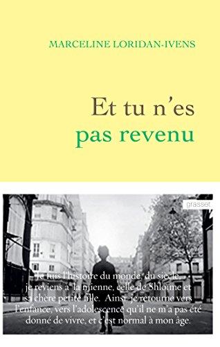 9782246853916: Et tu n'es pas revenu Prix Lectrice Elle (Littérature Française)