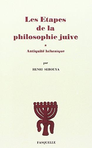 9782246854784: Les Etapes de la Philosophie Juive