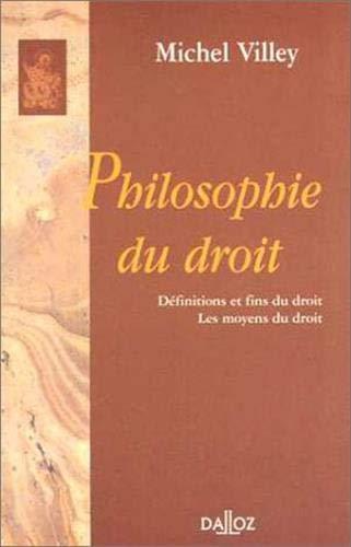 9782247000593: Philosophie du droit : Définitions et fins du droit