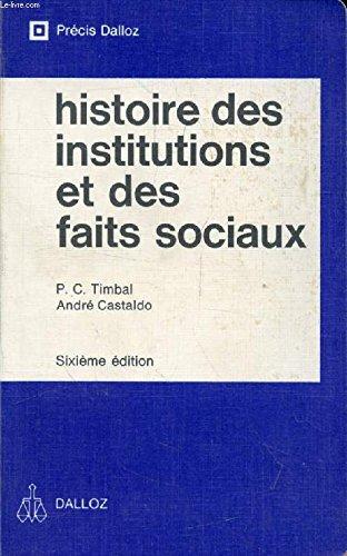 Histoire des institutions publiques et des faits: Pierre-Clément Timbal