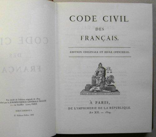 9782247003525: Code civil des français: édition originale et officielle