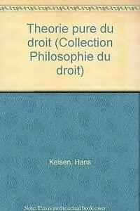 9782247003730: Théorie pure du droit (Collection Philosophie du droit) (French Edition)