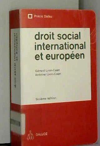9782247006366: Droit social international et européen (Précis Dalloz)