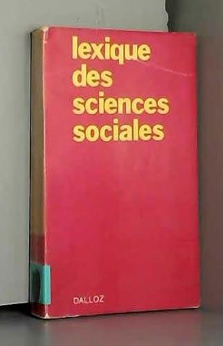 lexique des sciences sociales [Unknown Binding] [Jan: Madeleine Grawitz