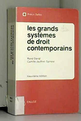 9782247009022: Les Grands systèmes de droit contemporains (Précis Dalloz)