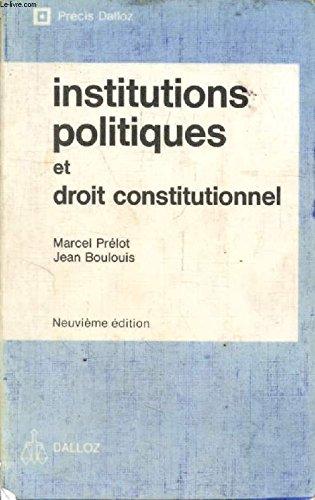 9782247010745: Institutions politiques et droit constitutionnel (Précis Dalloz) (French Edition)