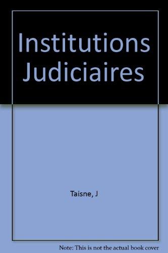 9782247010905: Institutions Judiciaires
