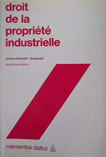 9782247012466: Droit de la propriete industrielle (Mementos Dalloz. Droit prive) (French Edition)