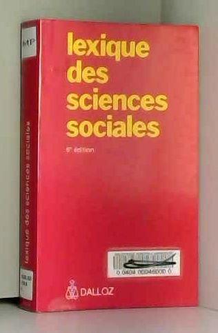 Lexique des sciences sociales: Madeleine Grawitz